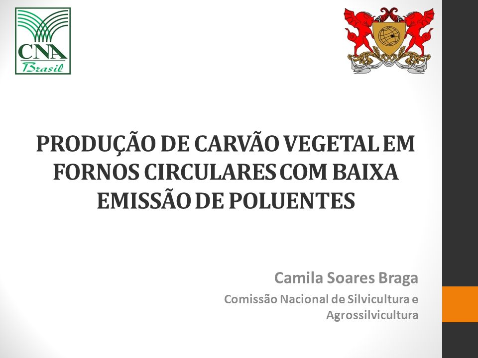 PRODUÇÃO DE CARVÃO VEGETAL EM FORNOS CIRCULARES COM BAIXA EMISSÃO DE POLUENTES