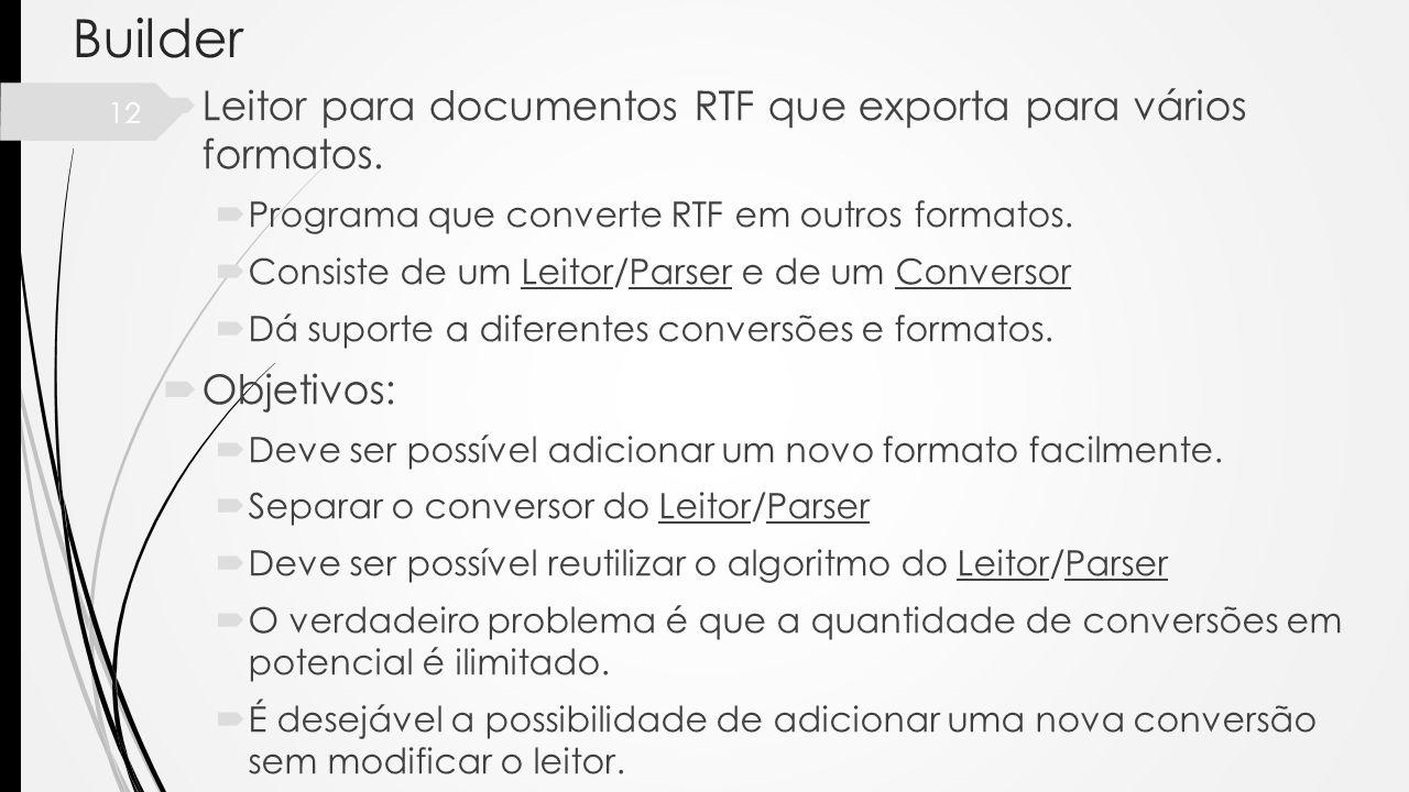 Builder Leitor para documentos RTF que exporta para vários formatos.