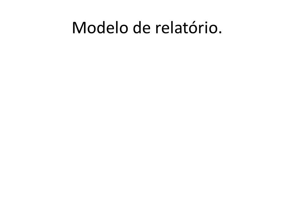 Modelo de relatório.