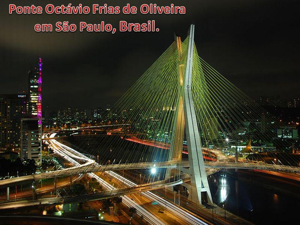 Ponte Octávio Frias de Oliveira em São Paulo, Brasil.