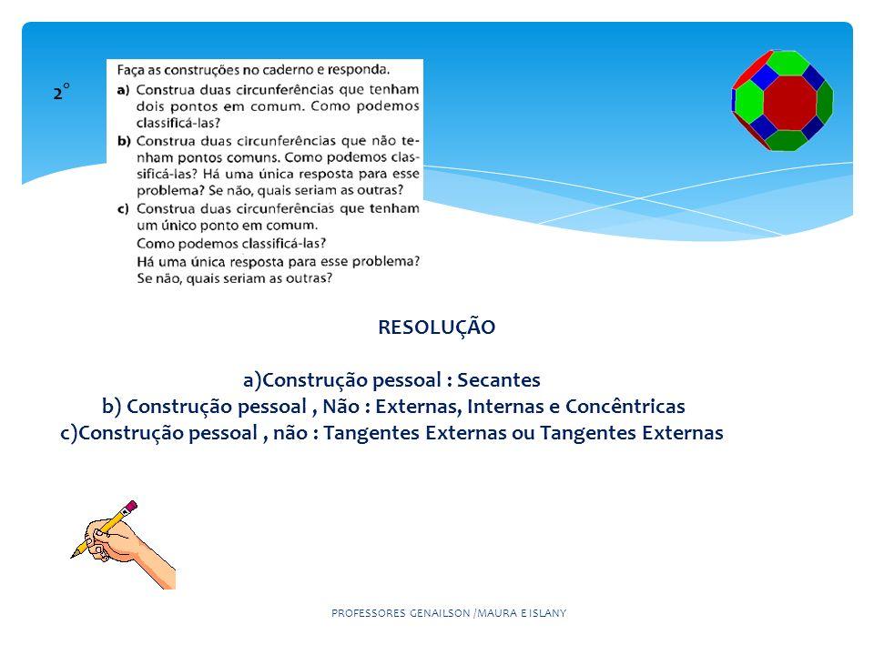 a)Construção pessoal : Secantes