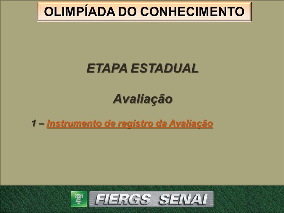 ETAPA ESTADUAL Avaliação