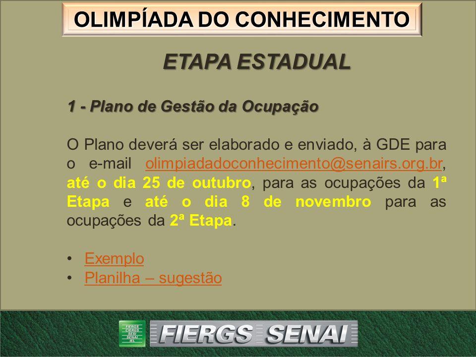ETAPA ESTADUAL 1 - Plano de Gestão da Ocupação