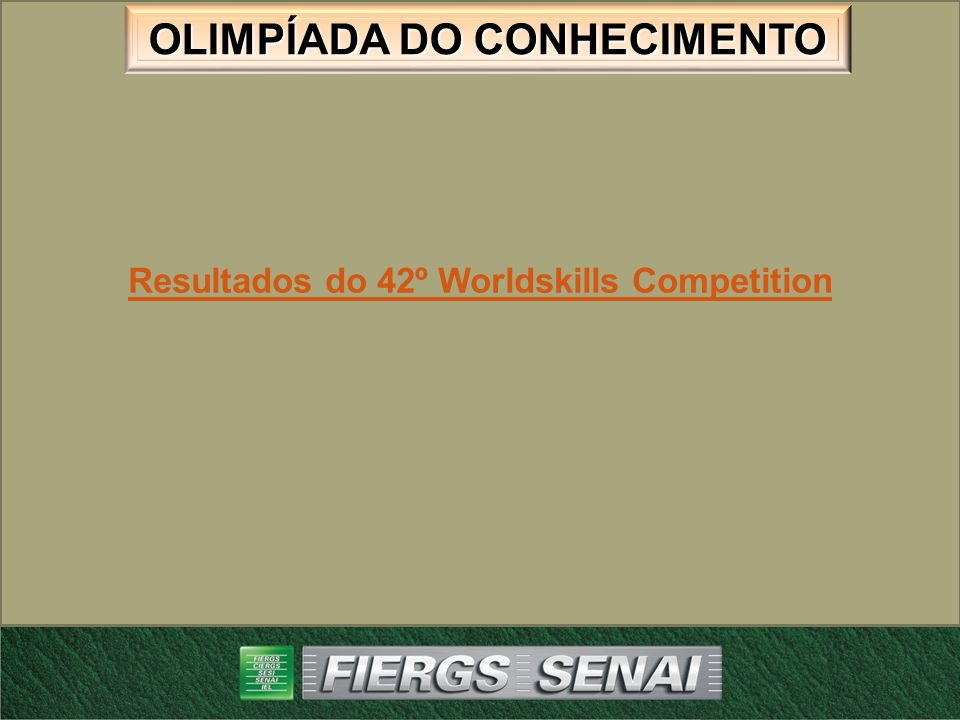 Resultados do 42º Worldskills Competition