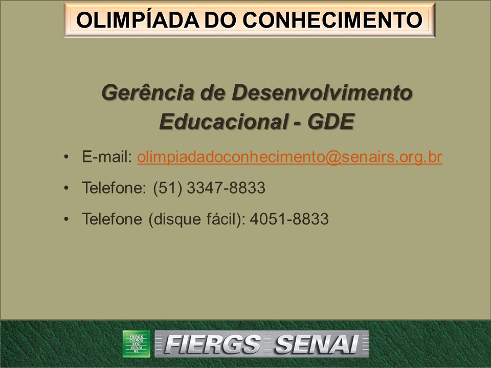 Gerência de Desenvolvimento Educacional - GDE