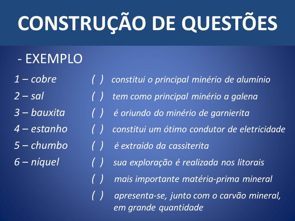 CONSTRUÇÃO DE QUESTÕES
