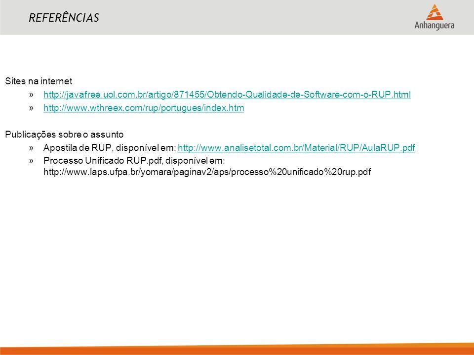 REFERÊNCIAS Sites na internet