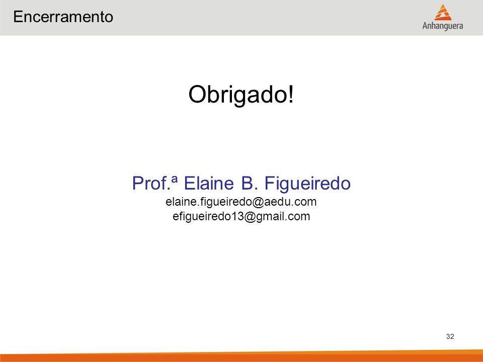Prof.ª Elaine B. Figueiredo
