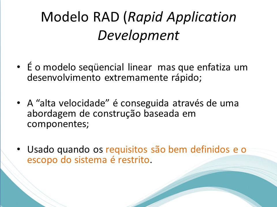 Modelo RAD (Rapid Application Development