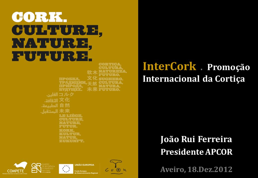 InterCork . Promoção Internacional da Cortiça