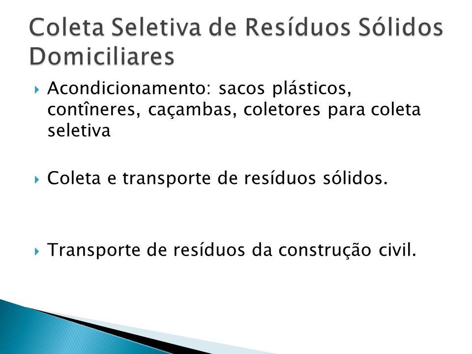 Coleta Seletiva de Resíduos Sólidos Domiciliares