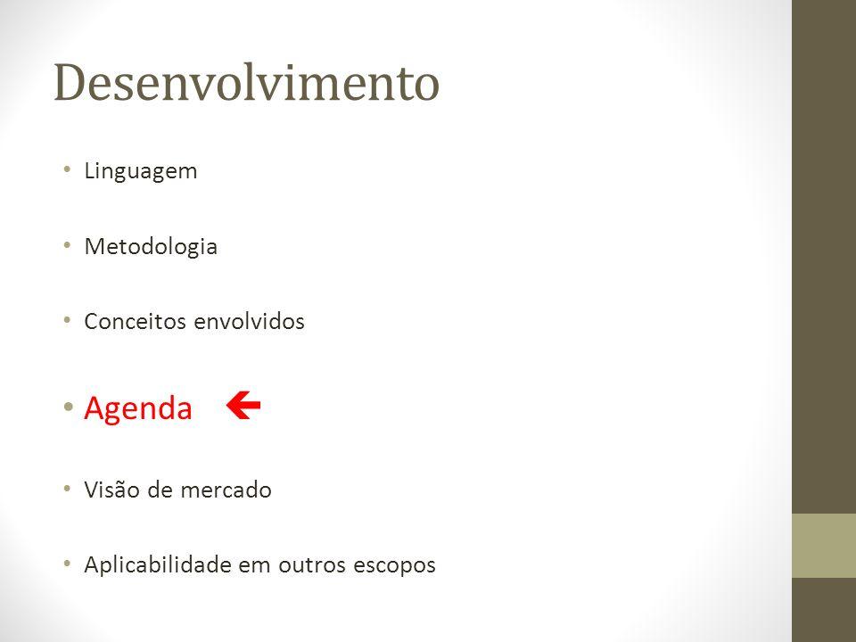 Desenvolvimento Agenda  Linguagem Metodologia Conceitos envolvidos