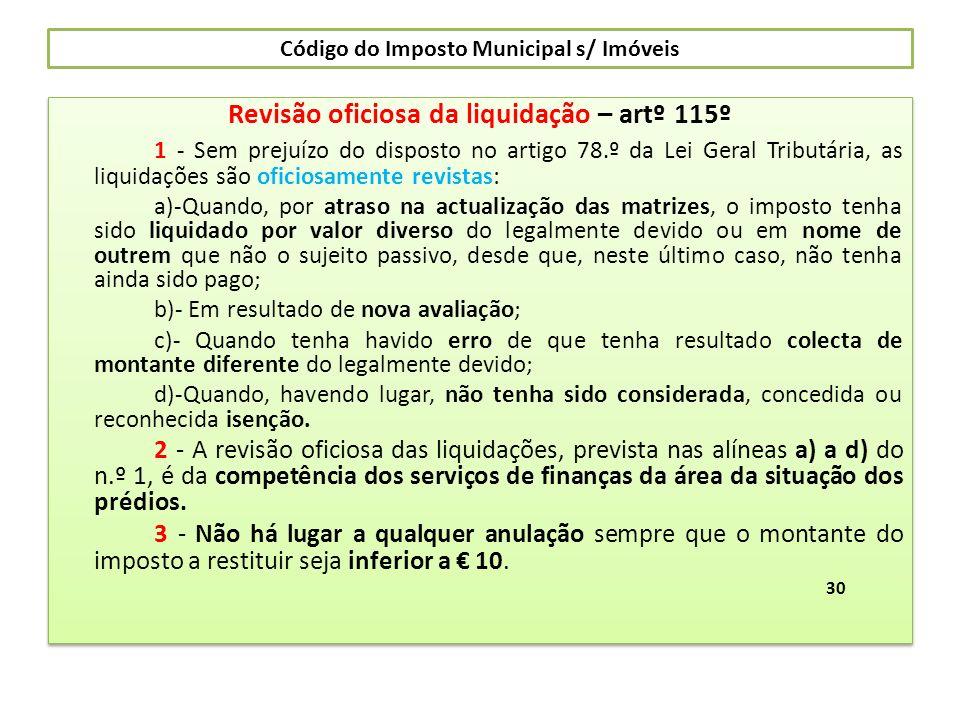 Código do Imposto Municipal s/ Imóveis