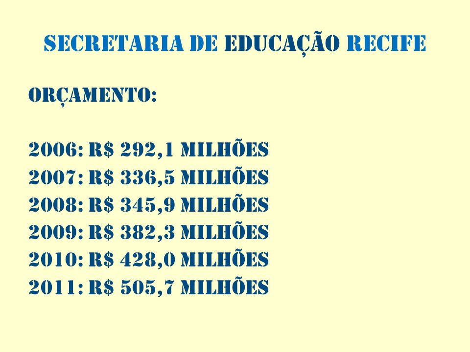 SECRETARIA DE EDUCAÇÃO RECIFE