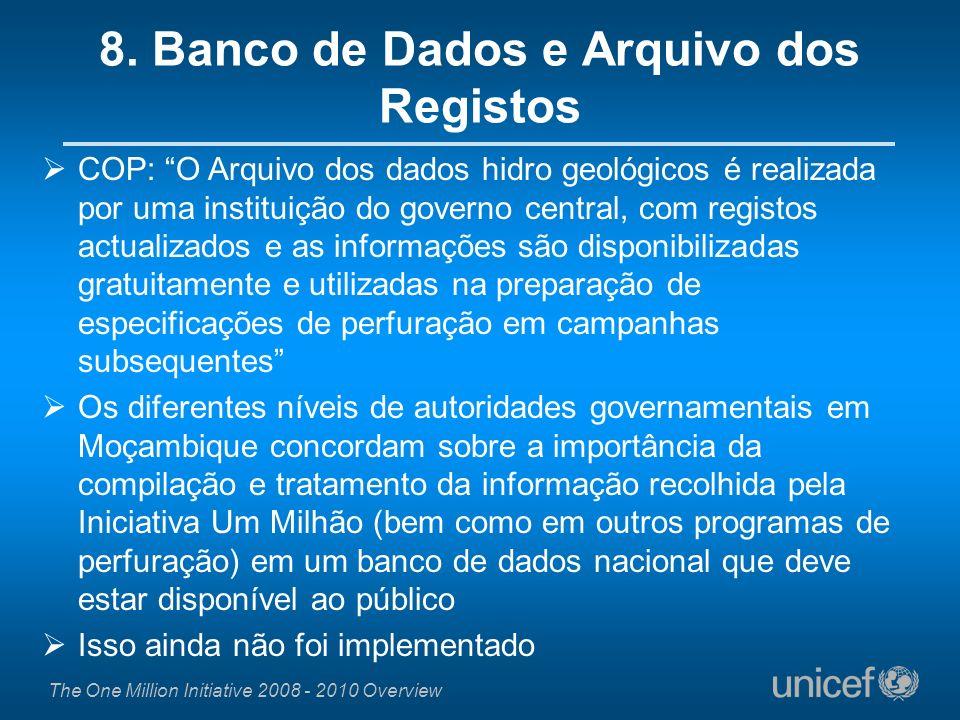 8. Banco de Dados e Arquivo dos Registos