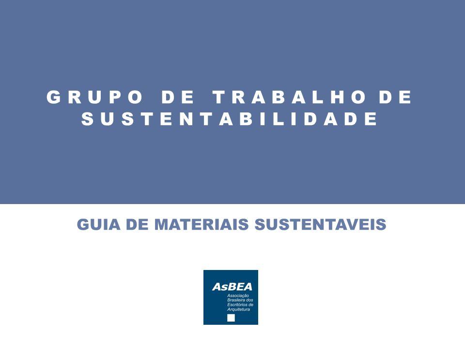 GUIA DE MATERIAIS SUSTENTAVEIS