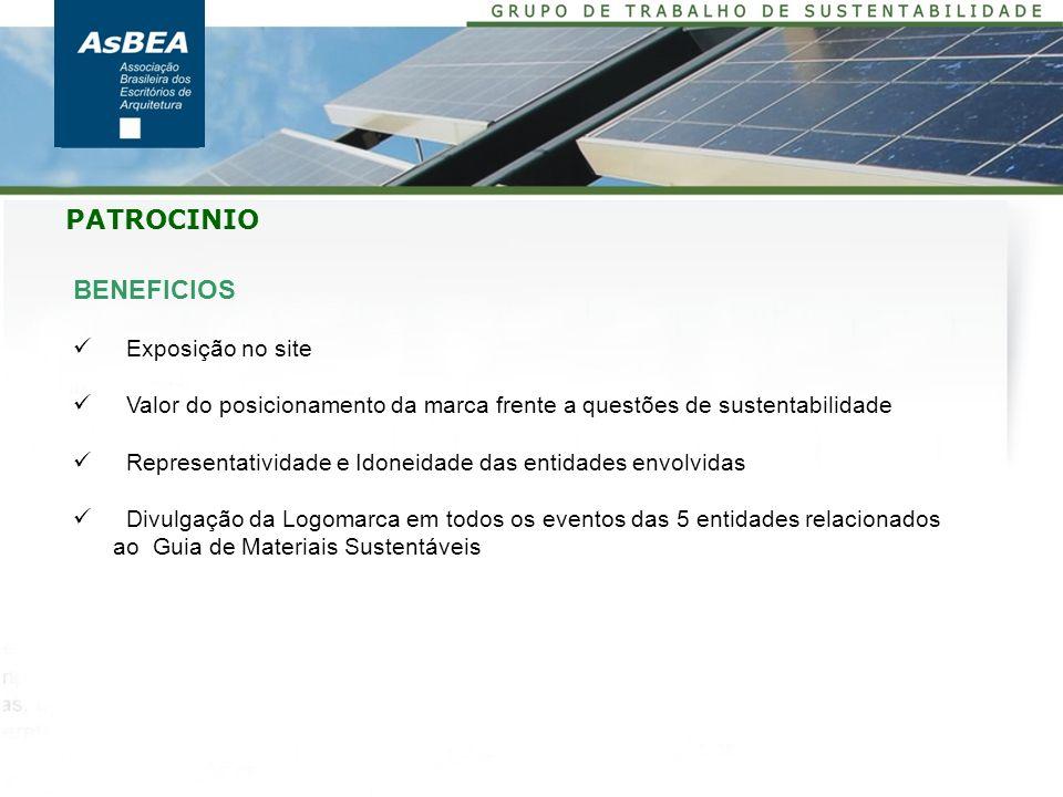 PATROCINIO BENEFICIOS Exposição no site