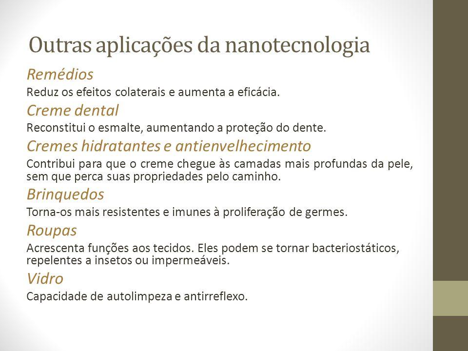 Outras aplicações da nanotecnologia