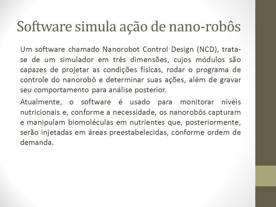 Software simula ação de nano-robôs