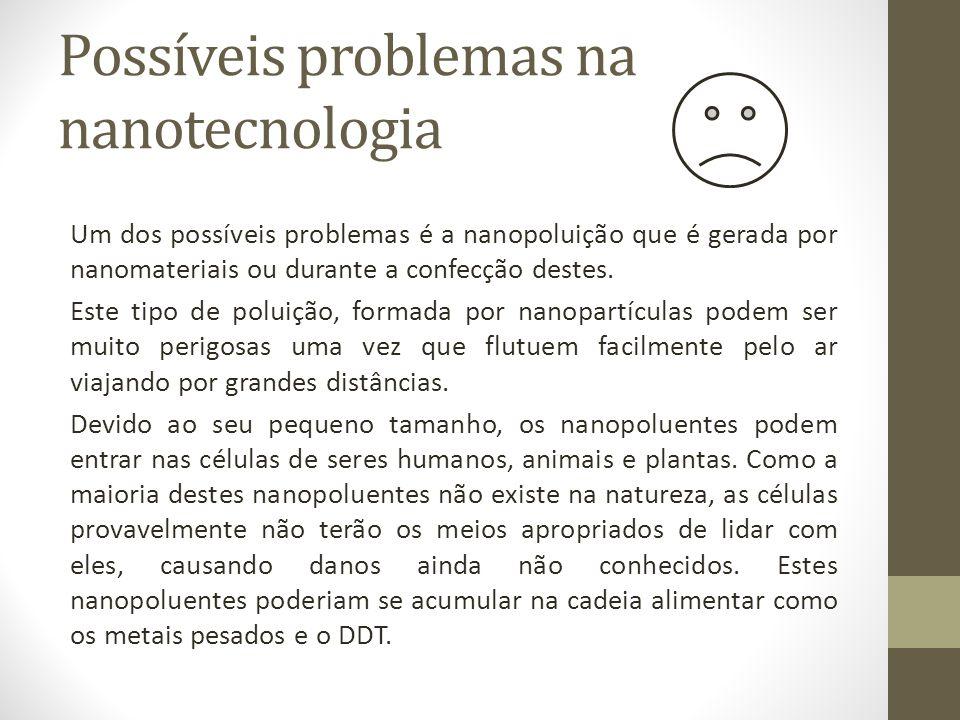 Possíveis problemas na nanotecnologia