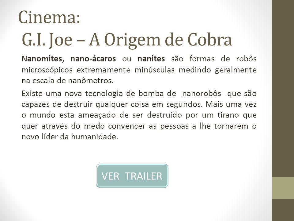 Cinema: G.I. Joe – A Origem de Cobra