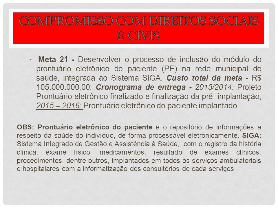 COMPROMISSO COM DIREITOS SOCIAIS E CIVIS