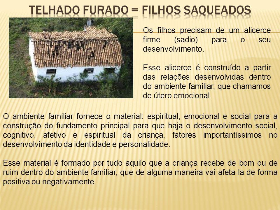 TELHADO FURADO = FILHOS SAQUEADOS