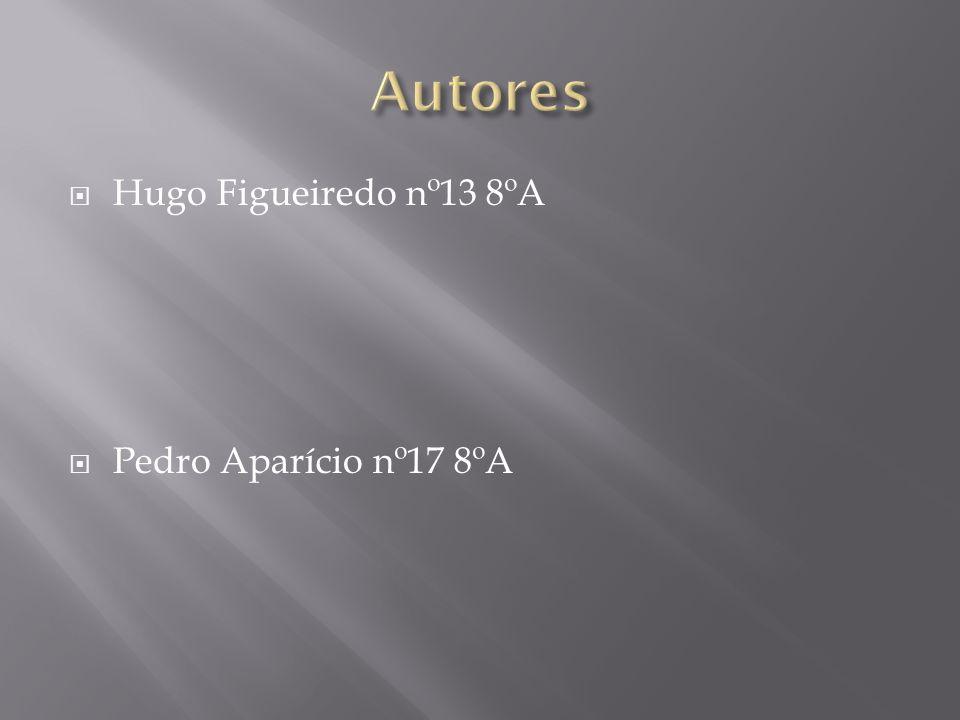 Autores Hugo Figueiredo nº13 8ºA Pedro Aparício nº17 8ºA