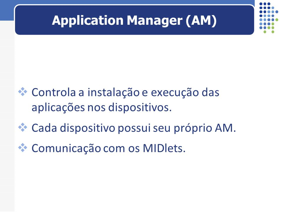 Application Manager (AM)