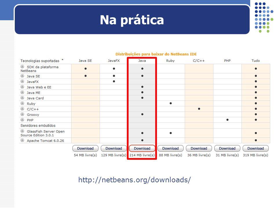 Na prática http://netbeans.org/downloads/