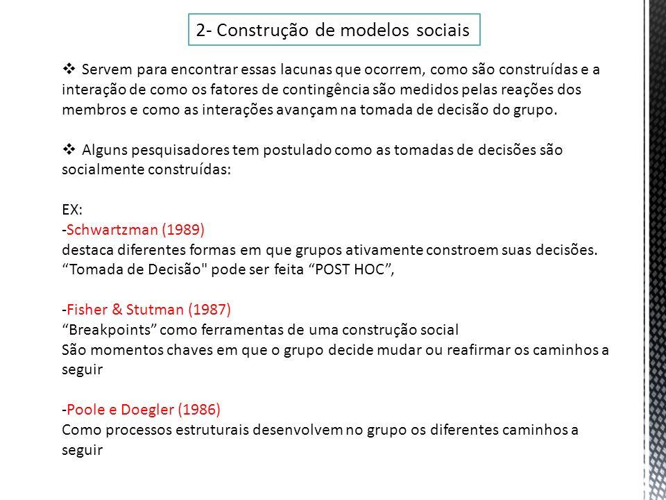 2- Construção de modelos sociais