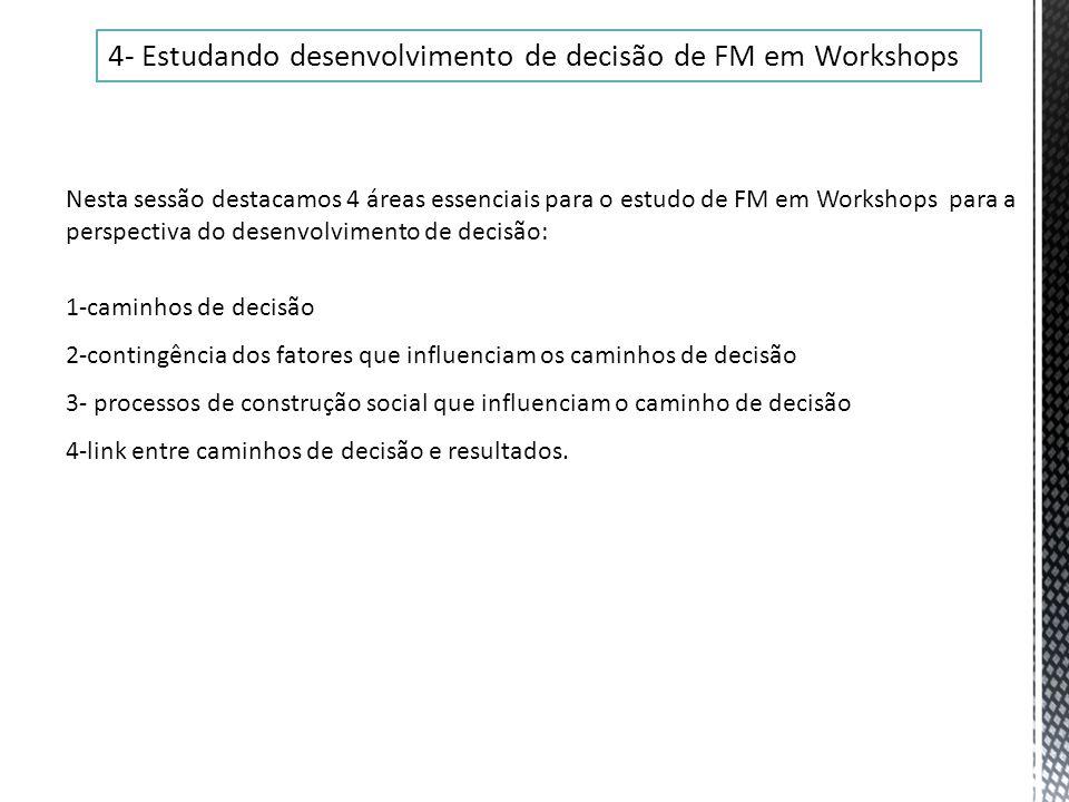 4- Estudando desenvolvimento de decisão de FM em Workshops