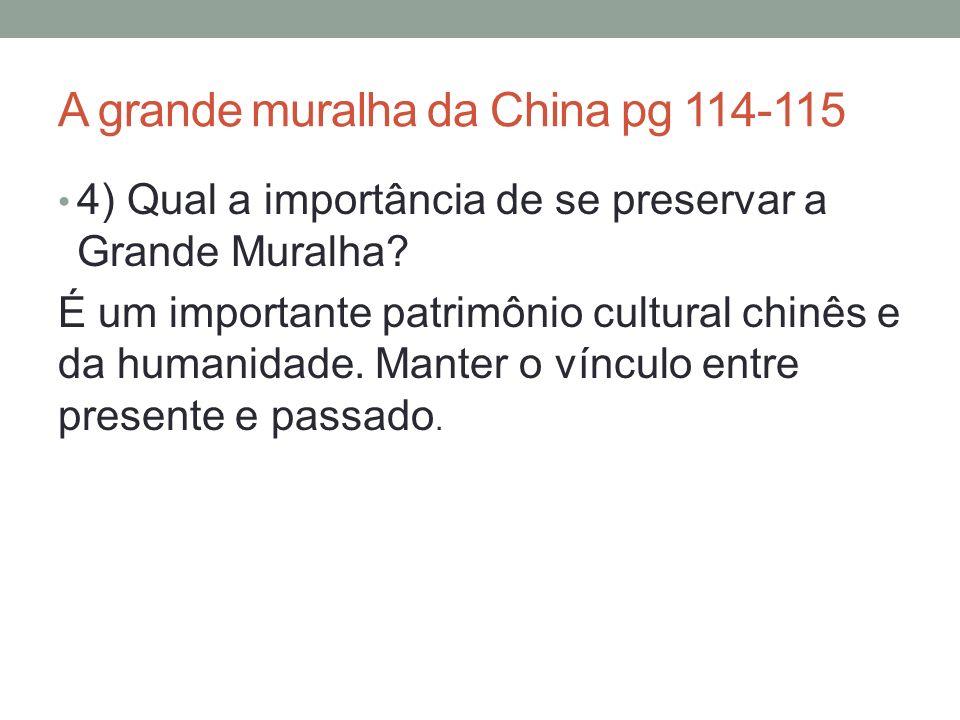 A grande muralha da China pg 114-115