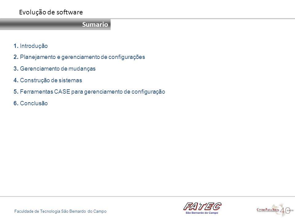 Evolução de software Sumario 1. Introdução