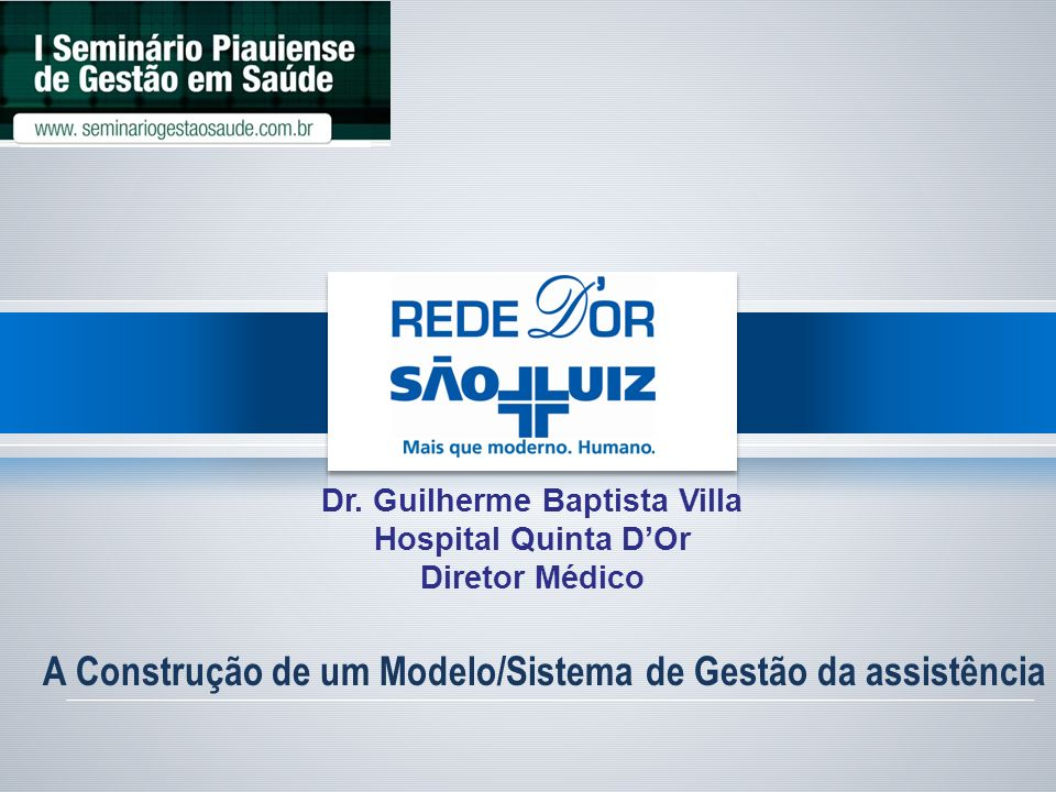 Dr. Guilherme Baptista Villa
