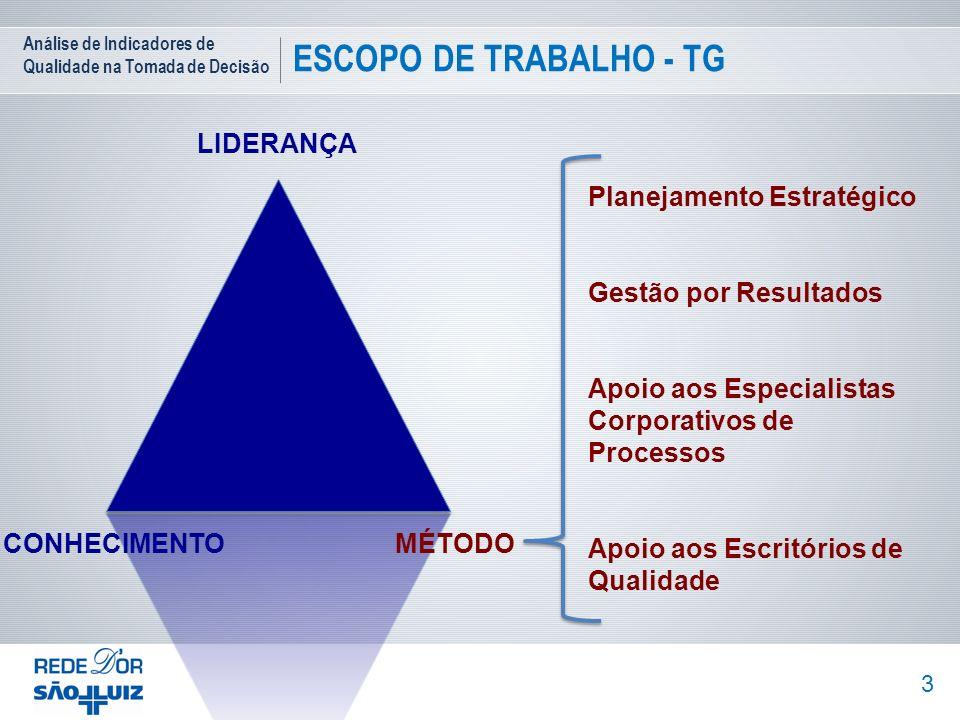 ESCOPO DE TRABALHO - TG LIDERANÇA Planejamento Estratégico