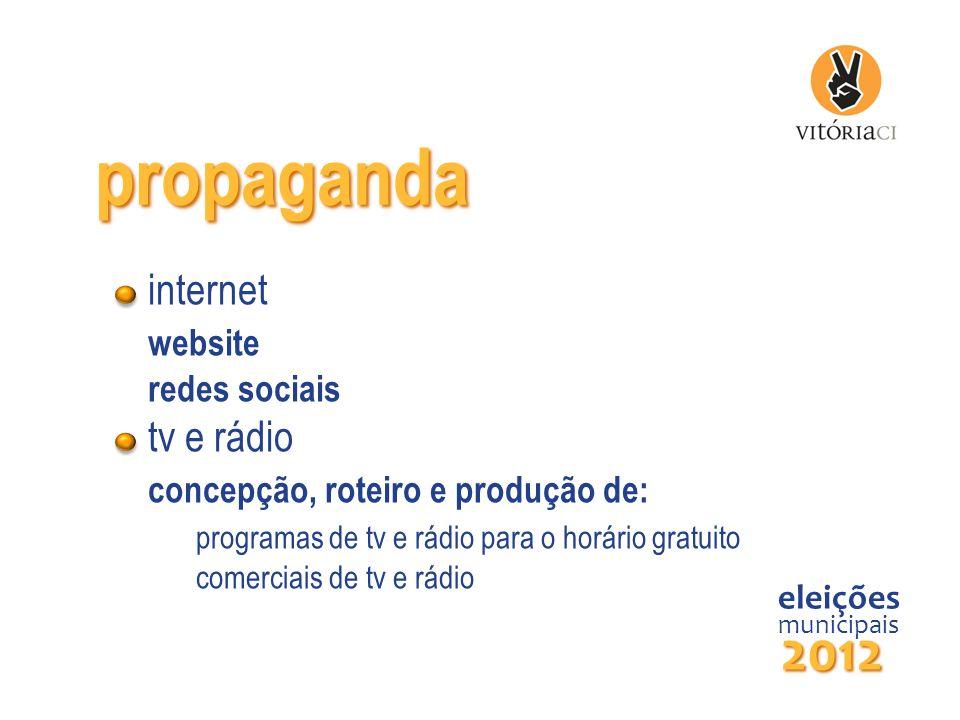 propaganda 2012 internet website tv e rádio