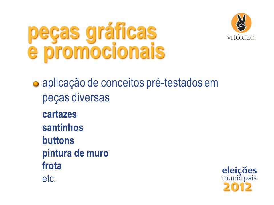 peças gráficas e promocionais 2012