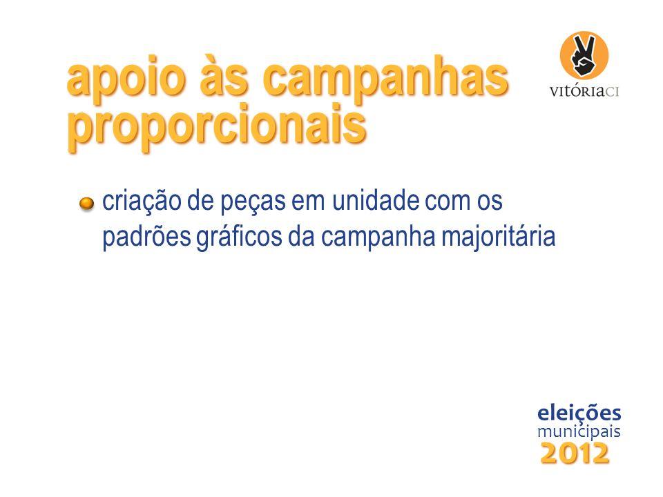 apoio às campanhas proporcionais 2012