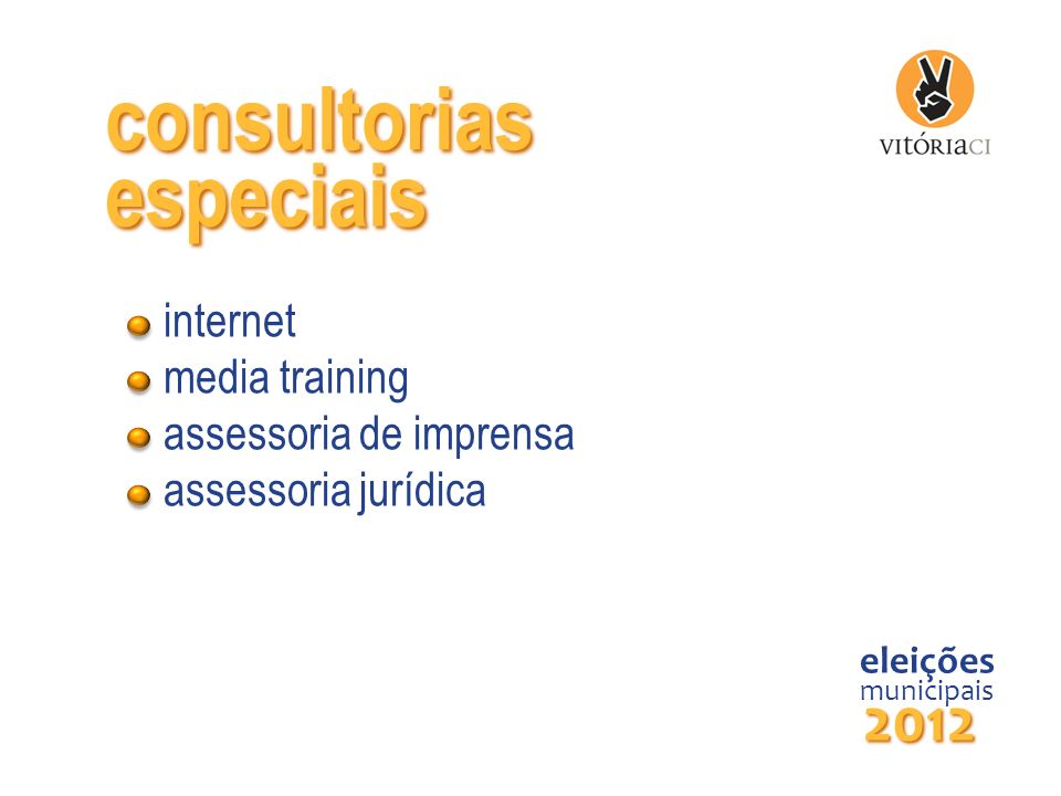 consultorias especiais 2012 internet media training