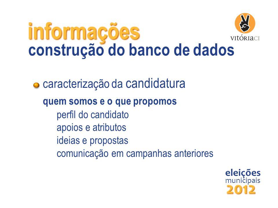 informações construção do banco de dados 2012