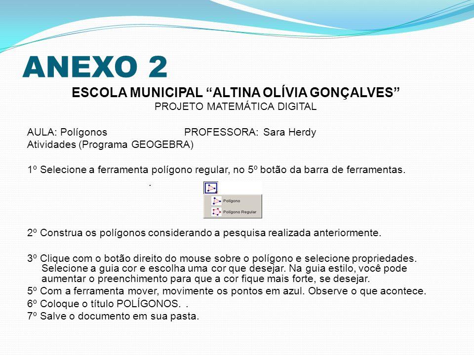 ESCOLA MUNICIPAL ALTINA OLÍVIA GONÇALVES