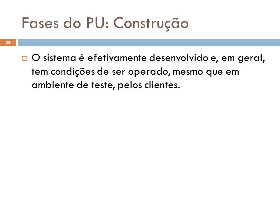 Fases do PU: Construção