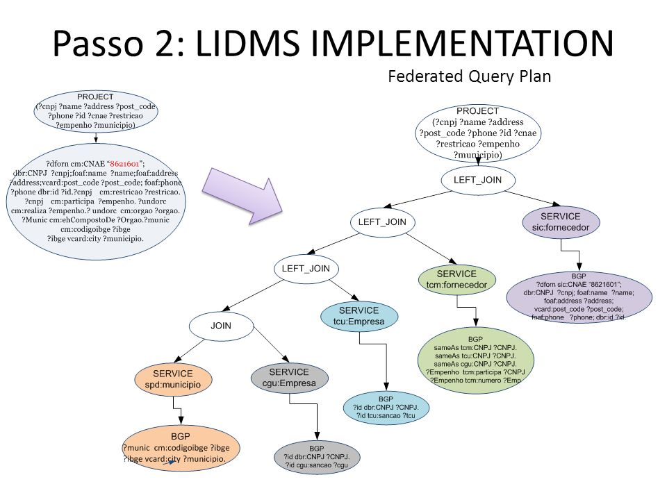 Passo 2: LIDMS IMPLEMENTATION
