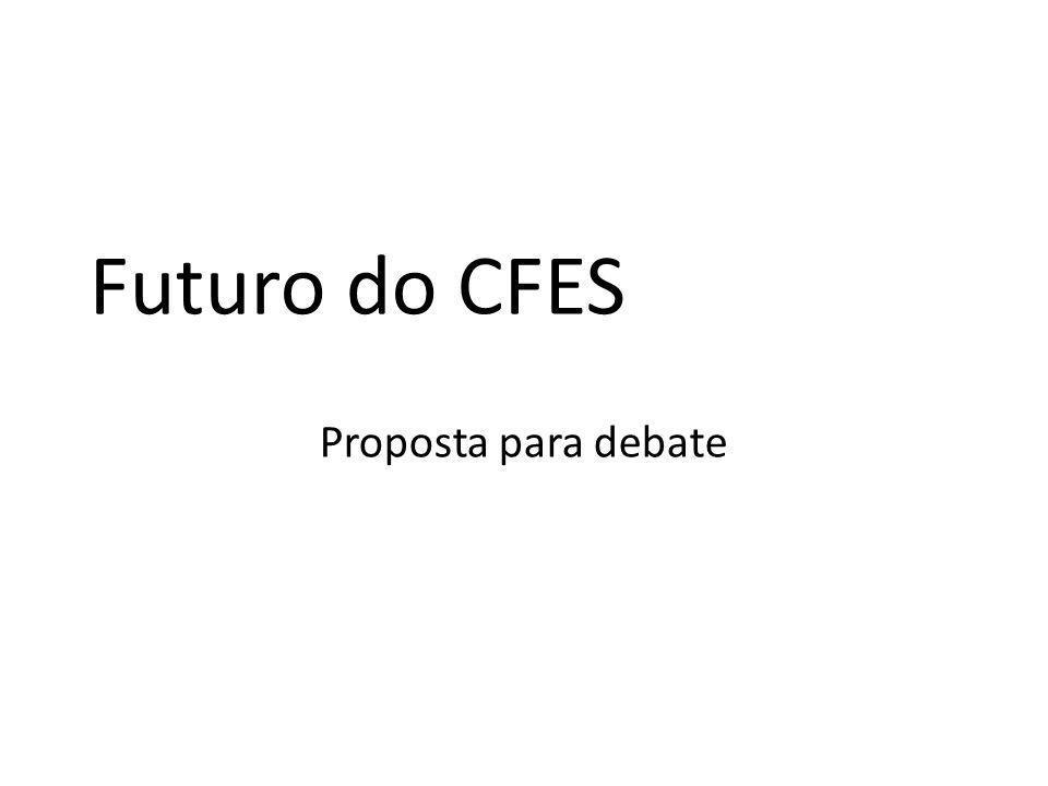 Futuro do CFES Proposta para debate