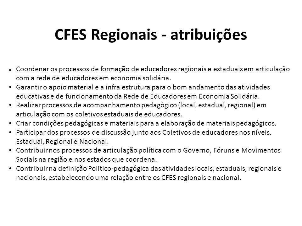 CFES Regionais - atribuições