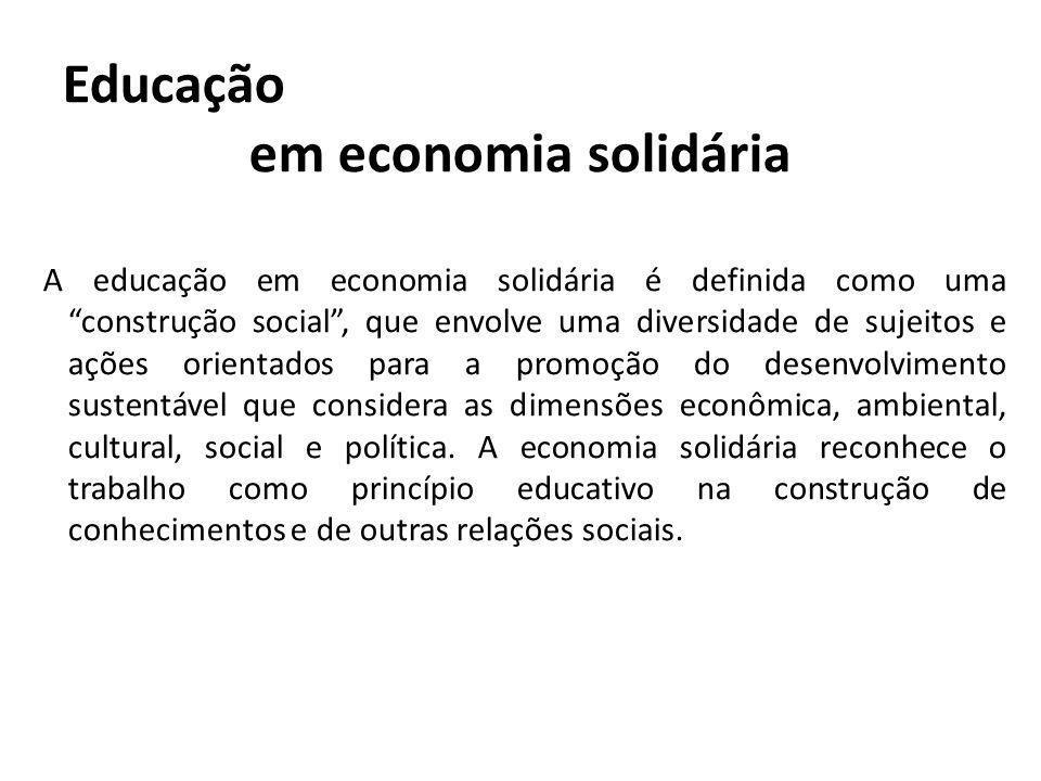 Educação em economia solidária