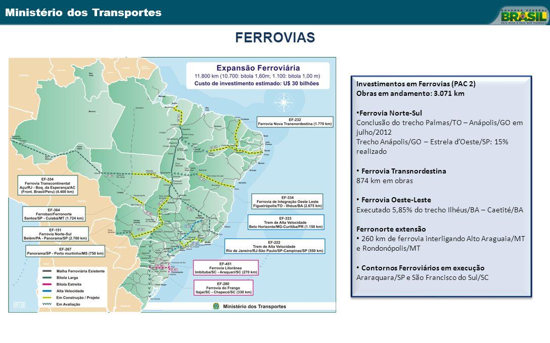 FERROVIAS Investimentos em Ferrovias (PAC 2)