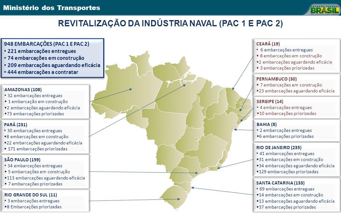 REVITALIZAÇÃO DA INDÚSTRIA NAVAL (PAC 1 E PAC 2)