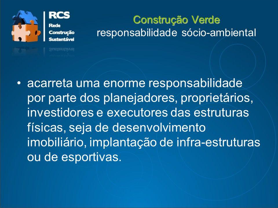 Construção Verde responsabilidade sócio-ambiental